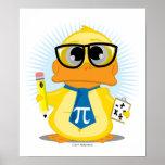 Math Teacher Duck Poster