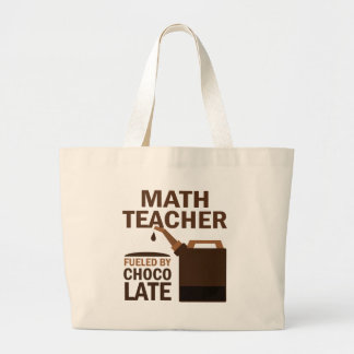 Math Teacher (Funny) Chocolate Large Tote Bag