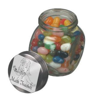 Math Teacher Glass Candy Jars