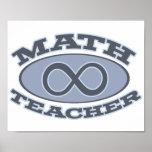 Math Teacher Infinity Poster