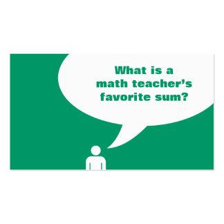 math teacher joke Double-Sided standard business cards (Pack of 100)