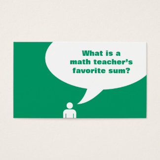math teacher joke business card