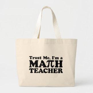 Math Teacher Jumbo Tote Bag