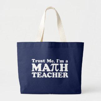 Math Teacher Large Tote Bag