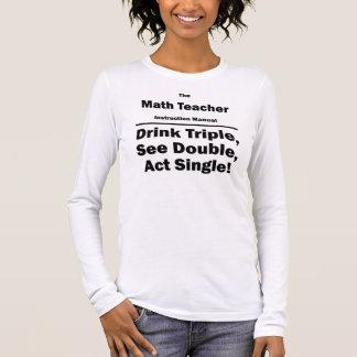 math teacher long sleeve T-Shirt
