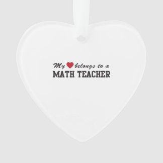 Math Teacher Love Ornament