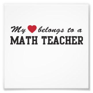 Math Teacher Love Photo Print