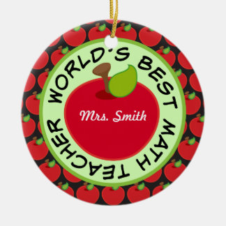 Math Teacher Personalized School Gift Ornament