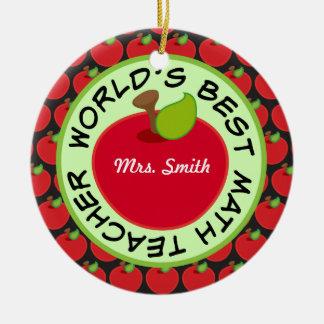 Math Teacher Personalized School Gift Ornament