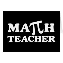 Math Teacher PI Card