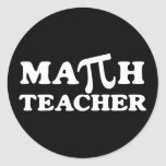Math Teacher PI Classic Round Sticker
