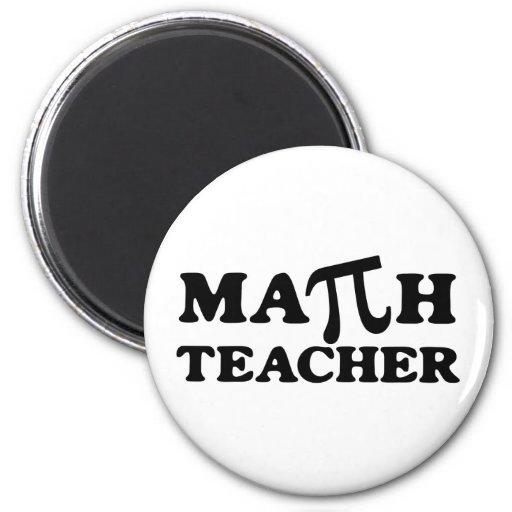 Math Teacher PI Fridge Magnets