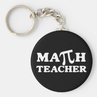 Math Teacher PI Keychain