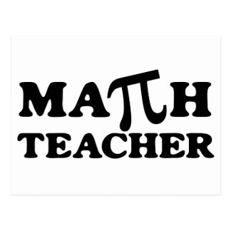 Math Teacher PI Postcard