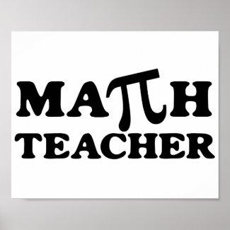 Math Teacher PI print