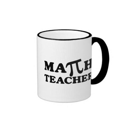 Math Teacher PI Ringer Coffee Mug