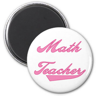 Math Teacher Pink 2 Inch Round Magnet