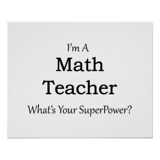 Math Teacher Poster