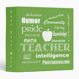Math Teacher Pride-Attributes/Lime Green Binder