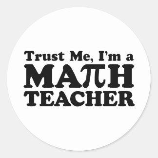 Math Teacher Classic Round Sticker