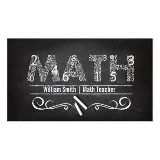 Math Teacher Plantillas De Tarjetas Personales