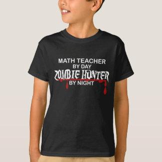 Math Teacher Zombie Hunter T-Shirt