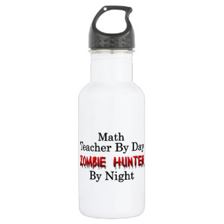 Math Teacher/Zombie Hunter Water Bottle