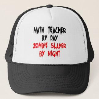 Math Teacher Zombie Slayer Trucker Hat