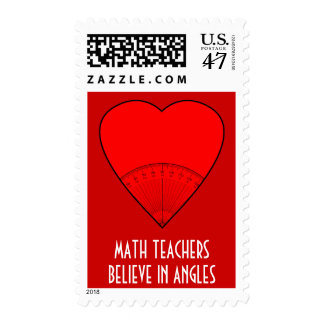 Math Teachers Believe In Angles Postage