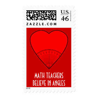 Math Teachers Believe In Angles Postage Stamps