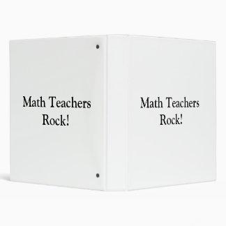 Math Teachers Rock! 3 Ring Binder