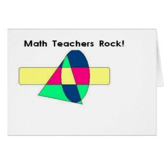 Math Teachers Rock! Card