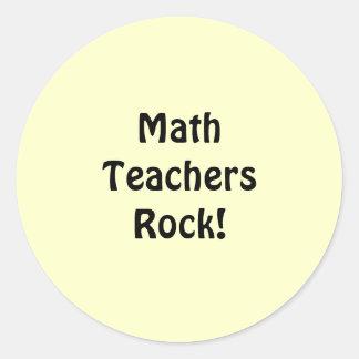Math Teachers Rock! Classic Round Sticker
