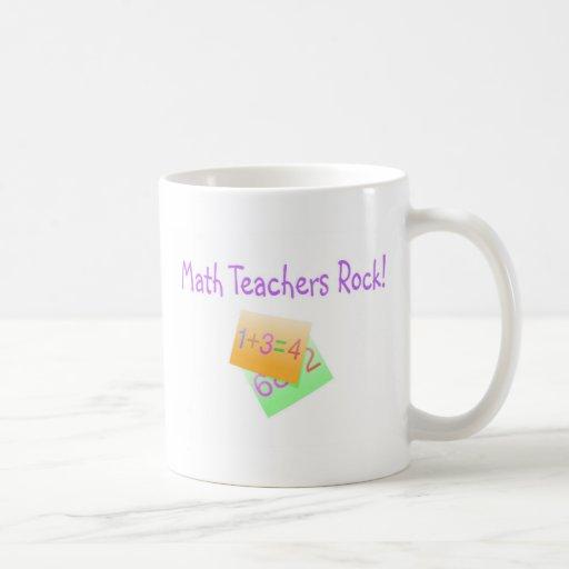 Math Teachers Rock Classic White Coffee Mug