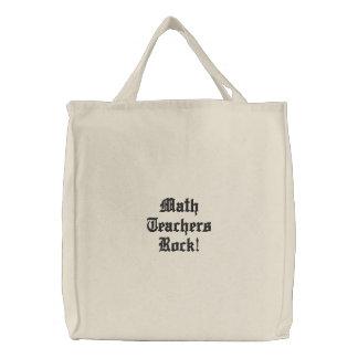 Math Teachers Rock! Canvas Bags