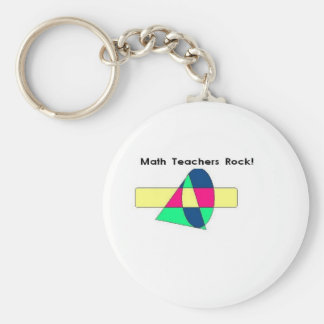 Math Teachers Rock! Keychain