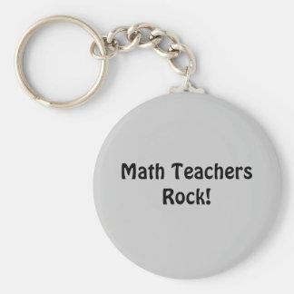 Math Teachers Rock! Keychains