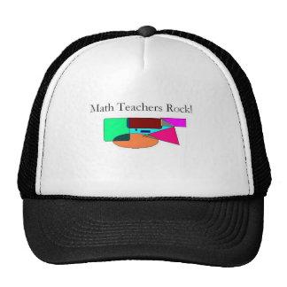 math teachers rock! mesh hats