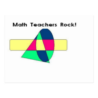 Math Teachers Rock! Postcard
