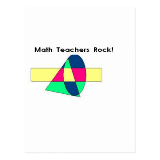 Math Teachers Rock! Postcard