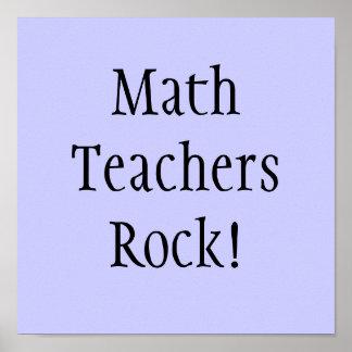 Math Teachers Rock! Poster