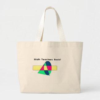 Math Teachers Rock! Tote Bags