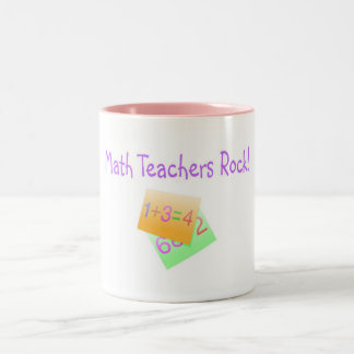 Math Teachers Rock Two-Tone Coffee Mug