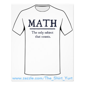 Math The Only Subject That Counts Flyer