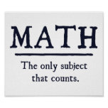 Math The Only Subject That Counts Print