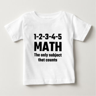 Math The Only Subject That Counts Shirt
