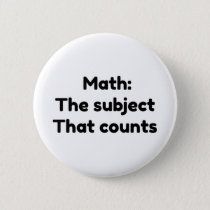 Math the subject that counts button