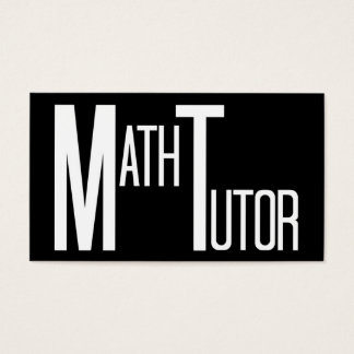 Math Tutor Black and White Business Card