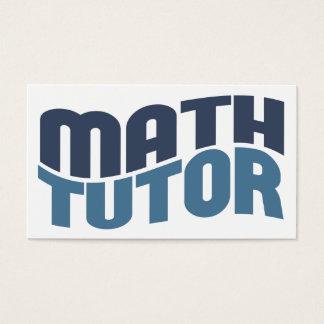 Math Tutor Business Cards