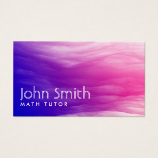 Math Tutor Elegant Colorful Clouds Business Card